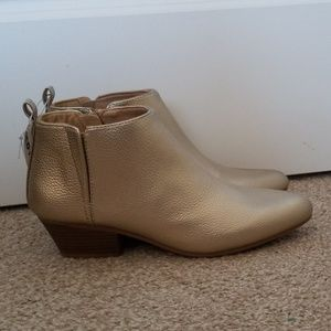 Old Navy Women's gold heeled ankle booties